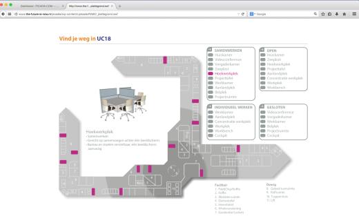 Interactieve plattegrond voor hoofdkantoor Rabobank
