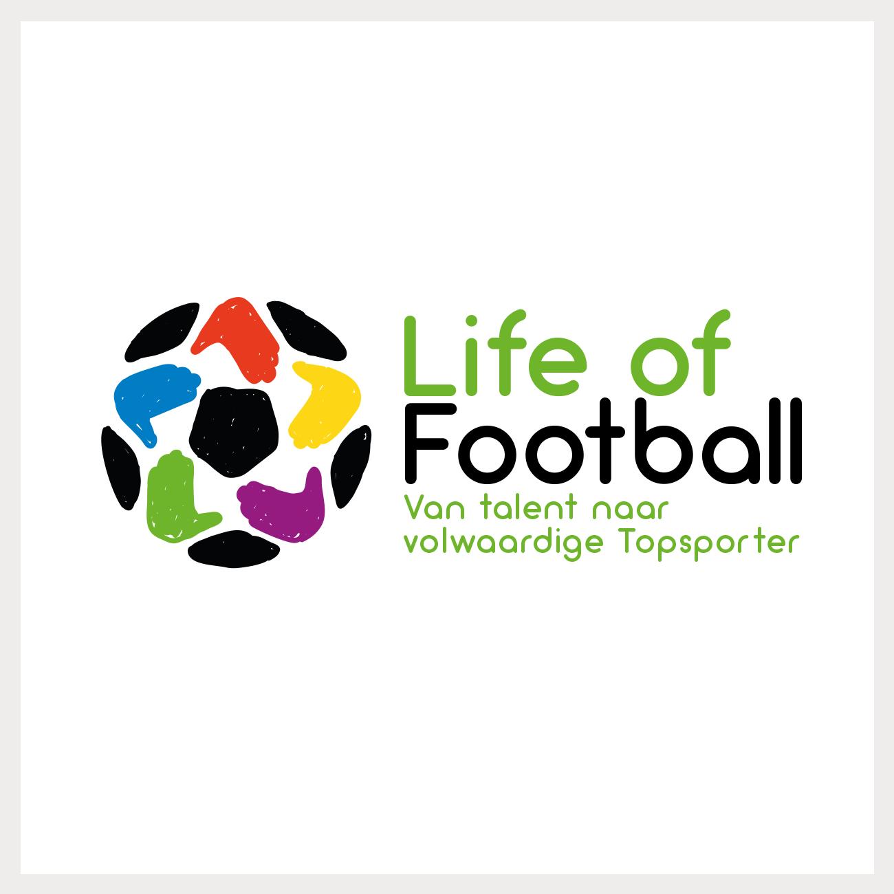 Logo voor de organisatie 'Life of Football'