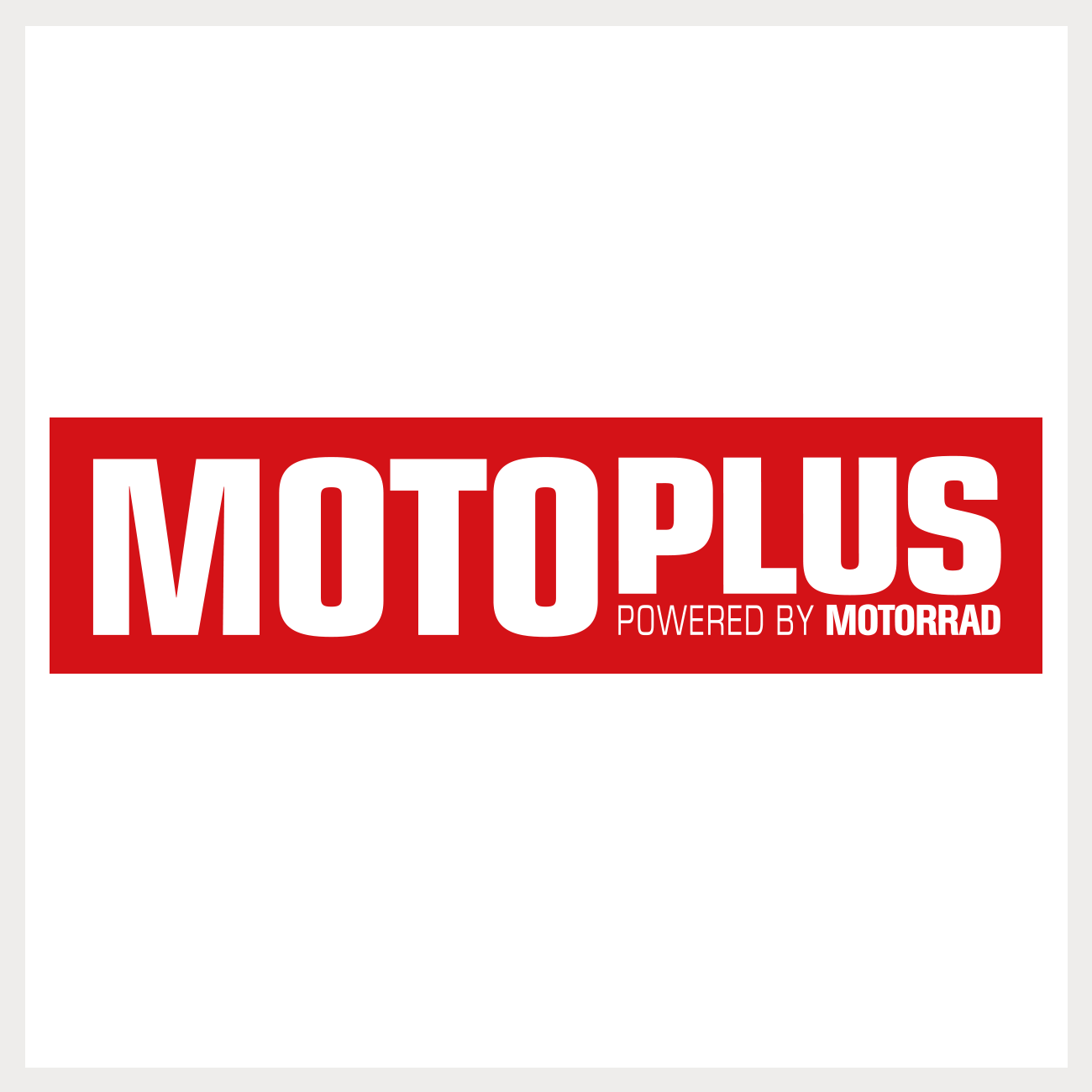 Logo voor het motormagazine Motoplus