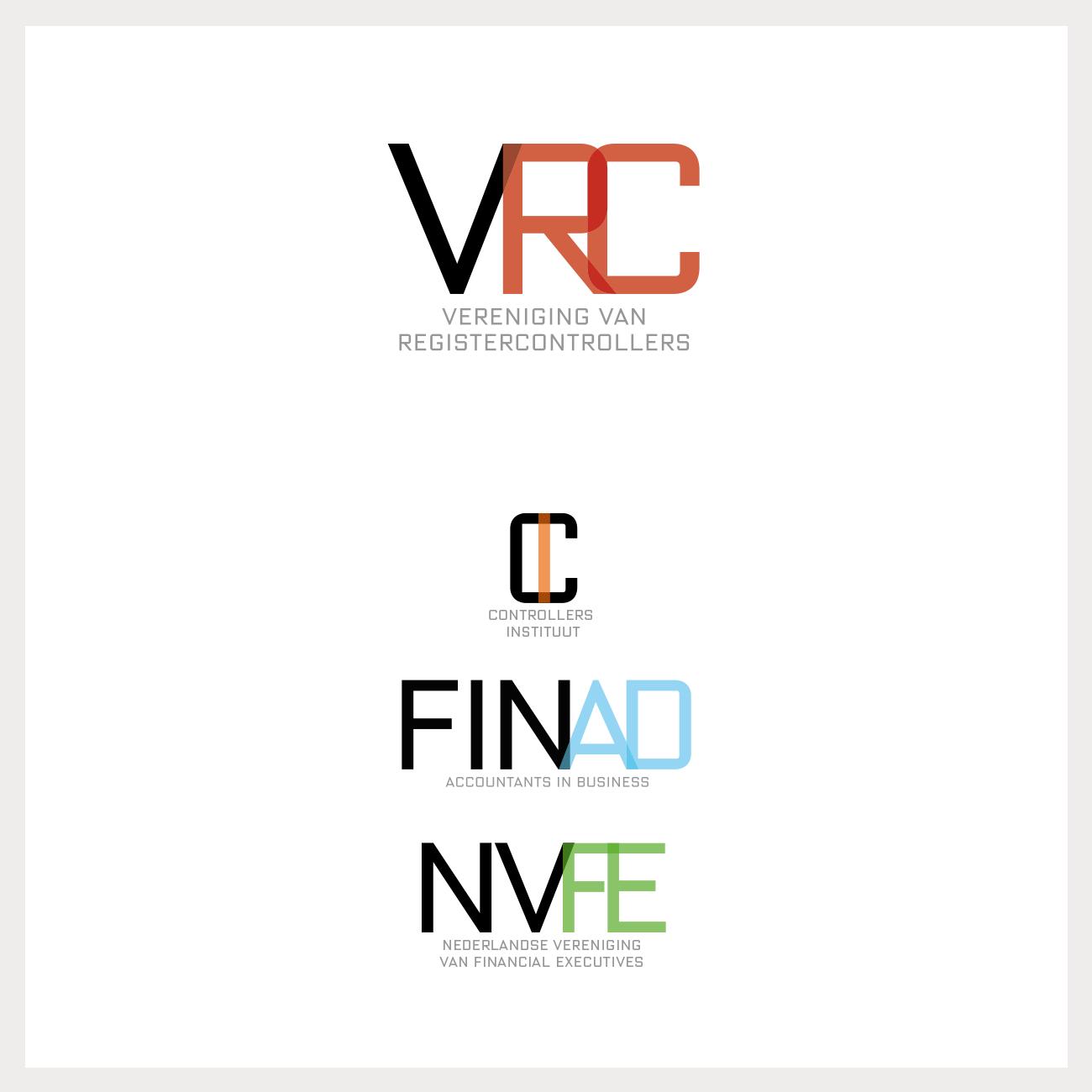 Serie logo's voor de VRC en hun dochterondernemingen