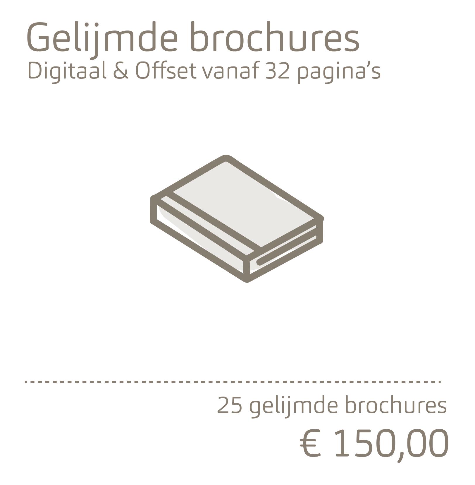 Gelijmde brochures