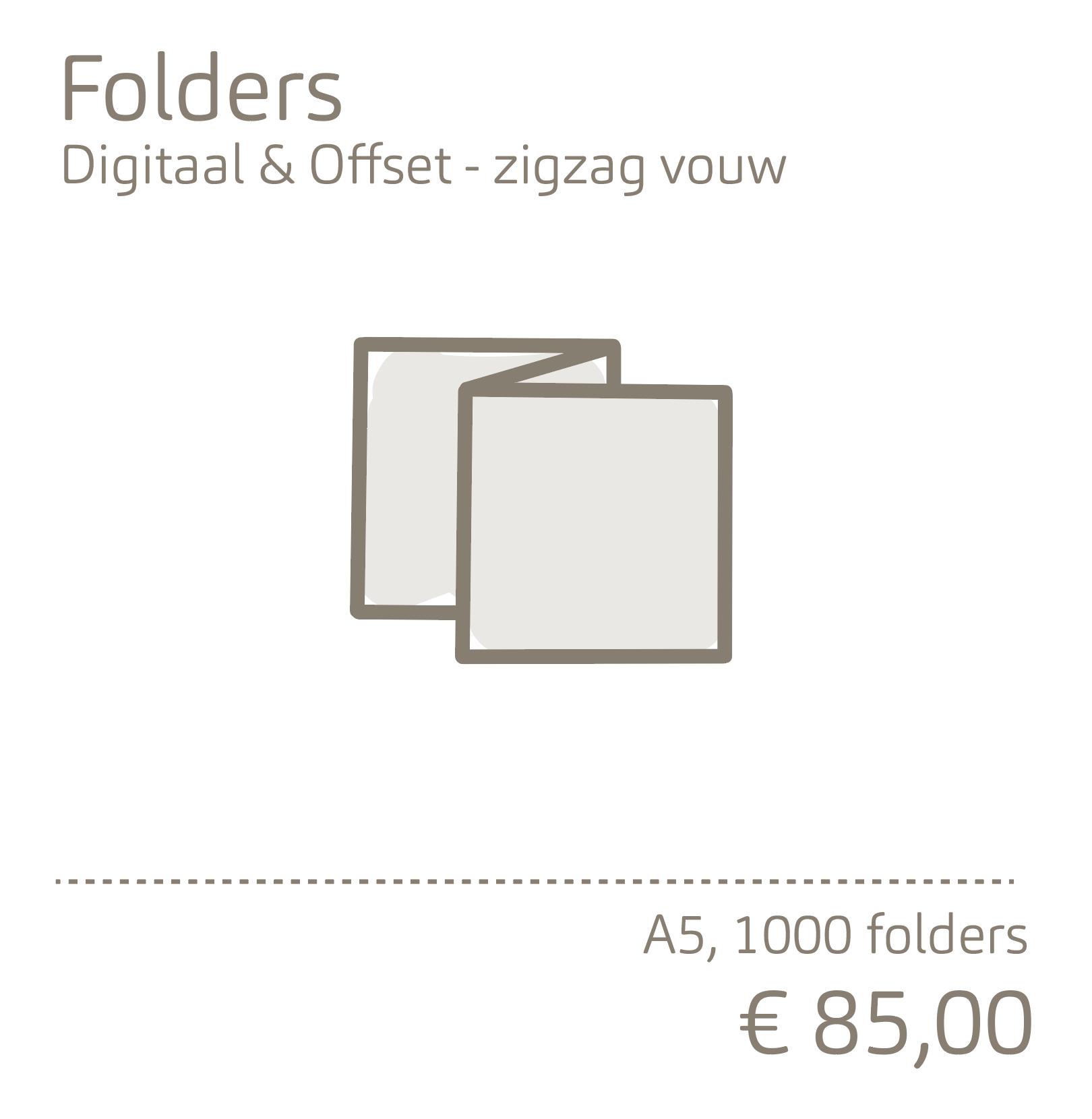 Folders-zigzag vouw