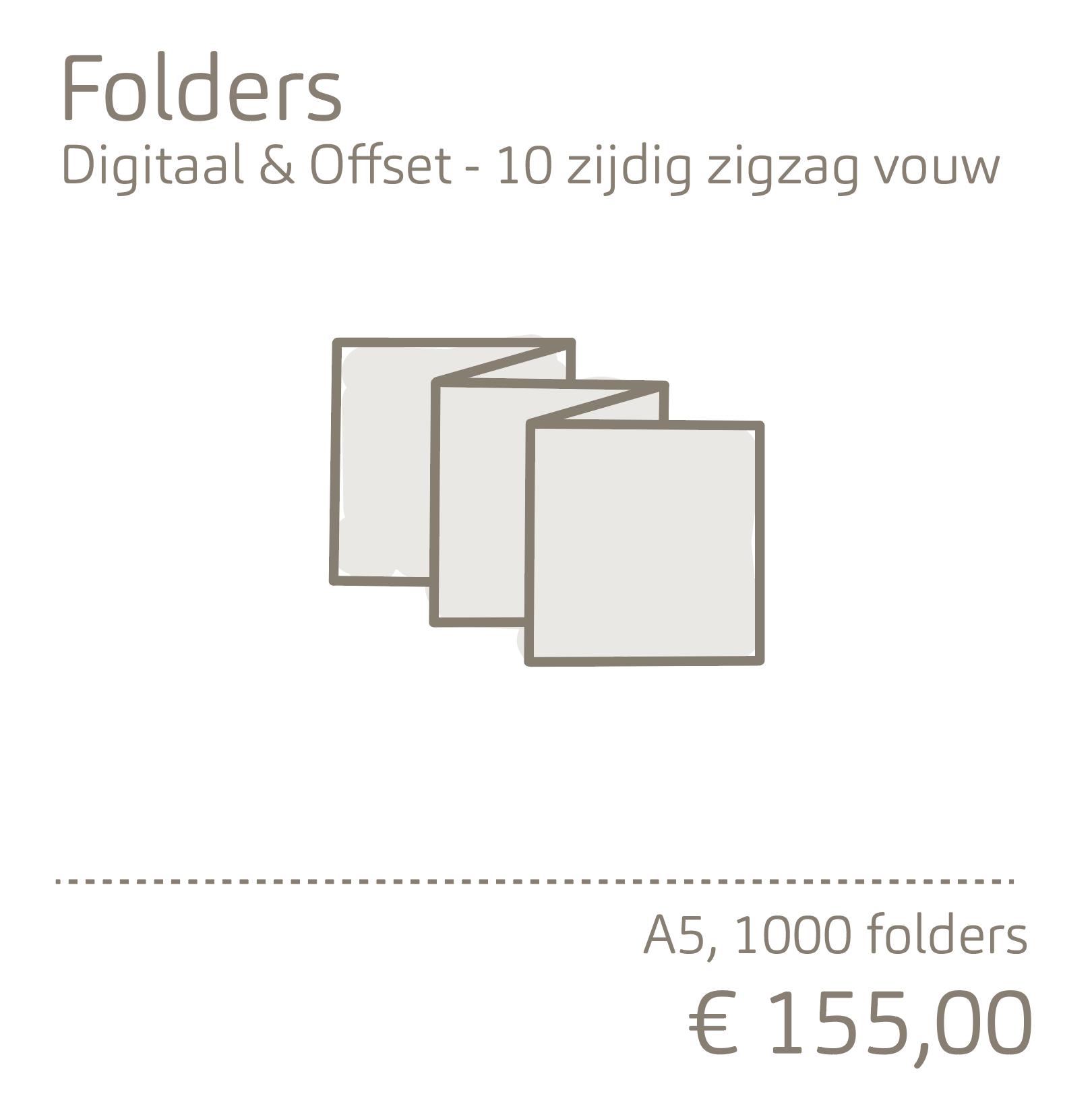 Folders - 10 zijdig zigzag vouw