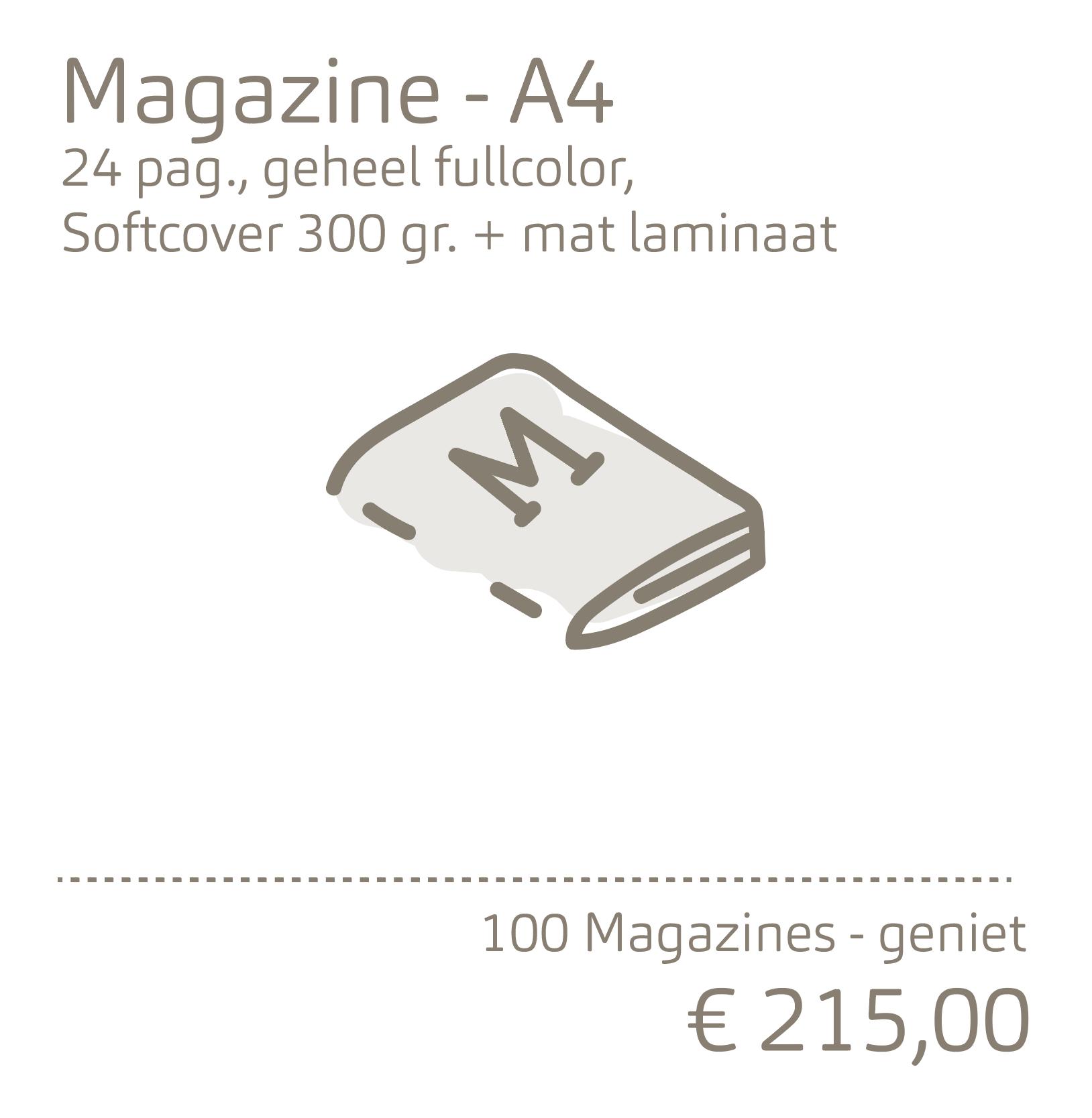 Magazine-A4 met 300 grams omslag