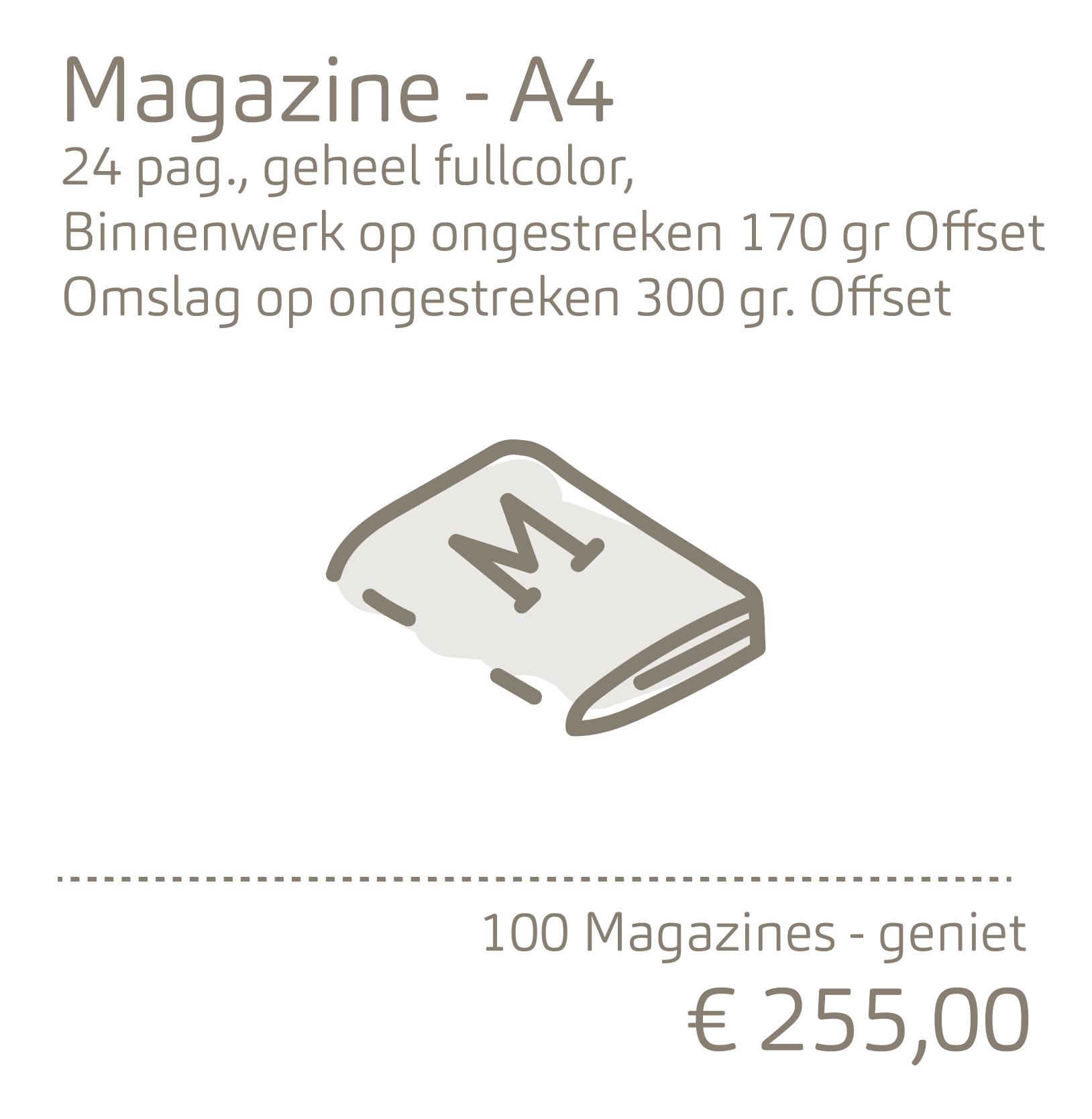 Magazine-A4 op ongestreken papier