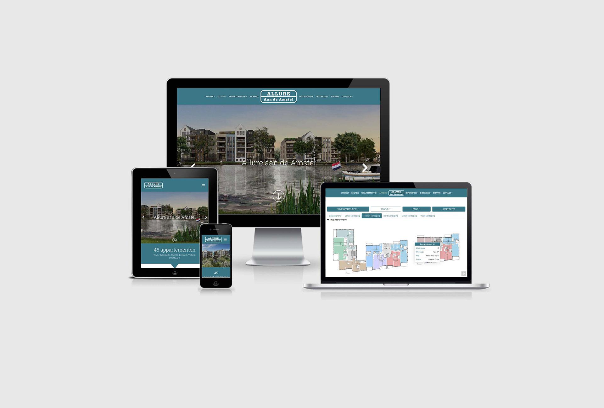Allure aan de Amstel -Verkoopwebsite